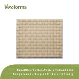 Viroforms Tatakan Piring Placemat Anyaman Eceng Gondok Set 4 Pcs Nigerian Satinwood Food Grade Original