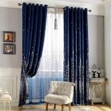 Obral 1 X 2 5M Single Piece Fantastic Style Castle Patterns Room Door Window Curtain Drape Valance For Living Room Kids Bedroom Navy Blue Intl Murah