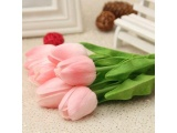 Promo Toko 10 Pcs Artificial Tulip Flowers With Leaves For Wedding Home Decorations 10Pcs Intl