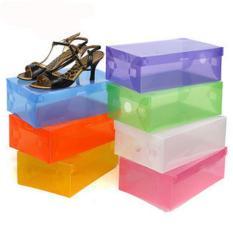 10 Pcs Kotak Sepatu Transparant Shoes Box - Random Color