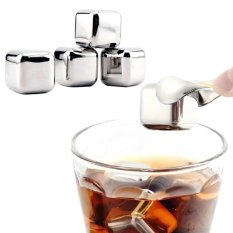 10 pcs/lot Stainless Steel Whiskey Stones Ice Cubes Soapstone Glacier Cooler Stone - intl