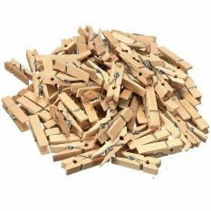 heldig - 10 Pcs Wooden Clip / Penjepit Foto / Jepitan Kayu / Jepitan Foto Hiasan Dinding Ruangan Kamar Natural Coklat GRATIS Tali Rami / Tali Goni 2 Meter