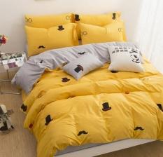 100% Cotton Cartoon Bedding Sets T 4 Pcs untuk Kamar Tidur Anak-anak Twin/full/Queen/king Size Tempat Tidur Set (1.5/1.8 Meter) -Intl