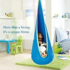 100% Cotton Kids Pod Swing Kursi Bayi Hammock Anak-anak Swing Indoor Kursi Garden Terrace Outdoor/Indoor Leisure Sarang Awal Pusat Penitipan Anak Ayunan Taman & Tempat Tidur-Intl