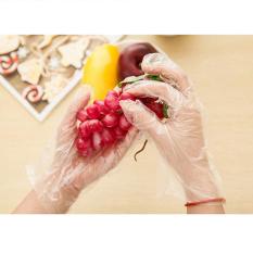 100 Disposable Jelas PE Sarung Tangan Plastik Makanan Aman Sarung Tangan Dekorasi Mobil-Intl