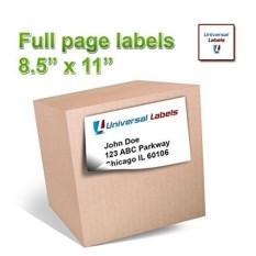 100 Halaman Penuh Pengiriman Label-Label Heavyweight untuk Semua Laser Printer Inkjet, 8.5x11 Inch Label, Secara Vertikal Slitted Di Belakang untuk Sederhana Peeling-Matte Putih-heets-Intl