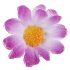 100 Pcs Buatan Gerbera Sutra Bunga Pernikahan Rumah Daisy Kepala Dekorasi  Putih + Ungu-Intl a39f9e1c70