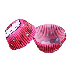 100 Pcs/lot Alat Memasak Manila Paper Cup Cake Liners Baking Cup Muffin Dapur Cupcake Case Cake Mould #9 & Merah
