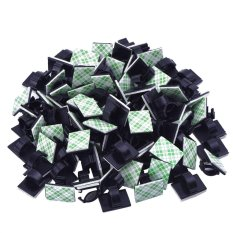 100 Pieces Adhesive Cable Clips Wire Clips Cable Wire Management Wire Holder Cable Clamps Cable Tie Holder for Car, Office and Home - intl