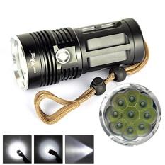 10000 LM 9T6 9x CREE XM-L T6 LED Flashlight Torch Lamp 3 Modes 18650 - intl
