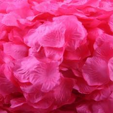 1000 buah sutra mawar kelopak buatan bunga dekorasi pesta pernikahan nikmat Hot Pink gratis pengiriman