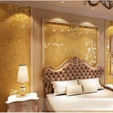 10*0.53 M Gaya Eropa Modern Sederhana Dinding Kertas DIY Non-woven Dinding Kertas HD Wallpaper Bunga untuk Dekorasi Rumah-Internasional