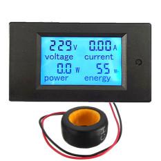 100 Amp Ac Digital Panel Meter Yang Memimpin Tenaga Pengawas Energi Pengukur Tegangan Volt Pengukur Amper