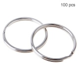 Spek 100Pcs 20Mm Diaphragm Iron Hoop Nickle Key Ring Intl Oem