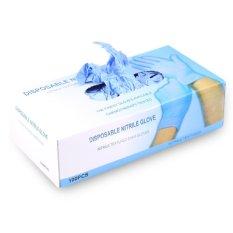 100 Pcs/box Tato Nitril Lateks Sarung Tangan Sekali Pakai (Biru L)-
