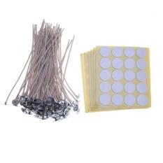 Spesifikasi 100 Pcs Lilin Kapas Sumbu Core Dengan 120 Foam Glue Wick Stiker Internasional Online