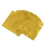 Obral 100 Pcs Imitasi Sliver Emas Dan Merah Tembaga Daun Daun Lembaran Logam Foil Untuk Penyepuhan Kerajinan Dekorasi Baru Intl Murah