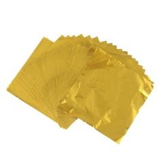 Spesifikasi 100 Pcs Imitasi Sliver Emas Dan Merah Tembaga Daun Daun Lembaran Logam Foil Untuk Penyepuhan Kerajinan Dekorasi Baru Intl Yang Bagus Dan Murah