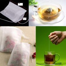 100pcs Kosong Teabags String Panas Seal Filter Paper Herb Tea Bag 5.5 x 7 cm