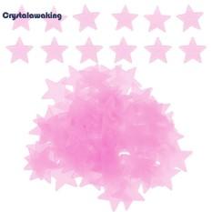 100 Pcs Stars Luminous Wall Stiker Mainan Anak DIY Dekorasi Kamar Tidur-Internasional