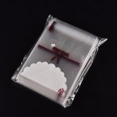 100 Pcs Putih Renda Diri Perekat Kantong Plastik Kue Permen Paket Tas Hadiah Ulang Tahun-Internasional By Buy Tra.