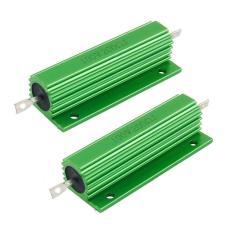 Ulasan Mengenai 100 W 200 Ohm Green Aluminium Bertempat Wirewound Resistor 2 Pcs Intl