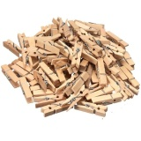Jual 100X Natural Multicolor Kayu Mendandani Foto Kertas Peg Pin Clothespin Craft Klip Intl Ori