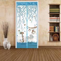 100 Cm X 210 Cm Pintu Kawat Nyamuk Magnet Kawat Anti Nyamuk Serangga Pintu Tirai Jaring Biru Oem Diskon 50