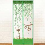 Spesifikasi 100X210 Cm Pintu Kawat Nyamuk Magnet Anti Nyamuk Serangga Net Tirai Pintu Hijau Yang Bagus