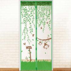 Review 100X210 Cm Pintu Kawat Nyamuk Magnet Anti Nyamuk Serangga Net Tirai Pintu Hijau Di Tiongkok