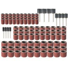 102 Pcs Rotary Pengamplasan Band Drum Kit W/Mandrels 1/2 3/8 1/4 120 Grit Untuk-Intl