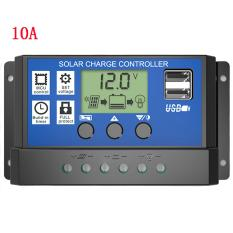 10A 20A 30A 12 V 24 V Tegangan PWM Solar Charge Controller LCD Display Baterai Sel PV Panel Charger Regulator -Intl