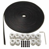 10 M 33Ft 20 T Gt2 Timing Belt 6Mm Wide 10X Pulley Untuk 3D Printer Cnc Reprap Dll Intl Terbaru