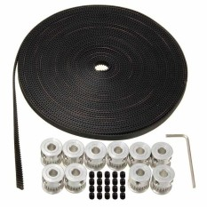 Harga 10 M 33Ft 20 T Gt2 Timing Belt 6Mm Wide 10X Pulley Untuk 3D Printer Cnc Reprap Dll Intl Yang Murah