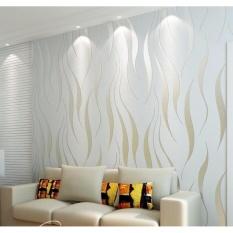 10m Modern Wallpaper 3D Non-woven DIY Mural Simple TV Sofa BedroomLiving Room Modern Wall Paper Sticker - intl