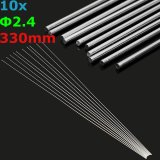 Review Terbaik 10Pcs 2 4Mm Aluminum Alloy Silver Tig Filler Rods Welding Brazing Wire Tools Intl