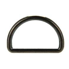 10 Pcs 25mm Metal Sliver D Ring Backpack D-ring Gesper untuk Strapping Black-