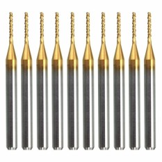 10Pcs 3 175Mm 1 8 Shank Pcb End Mills Titanium Coating 1 0Mm Cutting Bits Hong Kong Sar Tiongkok