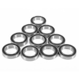 Promo Toko 10Pcs 6802 2Rs 6802Rs Deep Groove Metal Rubber Shielded Sealed Ball Bearing Intl