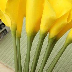 Harga 10 Buah Bikinan Getah Calla Lily Pernikahan Bunga Bunga Buket Pengantin Dekorasi Taman Rumah Original