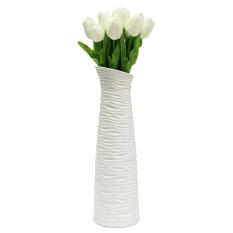 Toko 10 Buah Bunga Tulip Buatan Getah Asli Karangan Bunga Pernikahan Pengantin Sentuhan Dekorasi Rumah Putih Dekat Sini