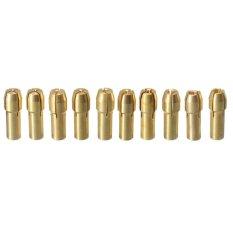 Spesifikasi 10 Buah Collet Chuck Bor Kuningan Sedikit Untuk Dremel Putaran Alat 5 3 2 Mm 4 3 Mm Oem Terbaru