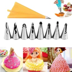 Beli 10Pcs Cake Pastry Icing Piping Bag Nozzles Cupcake Tips Decoration Bags Tools Intl Terbaru