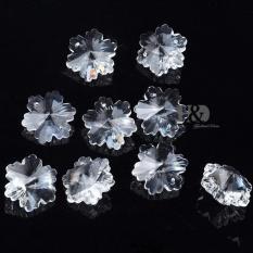 10 Pcs Clear Snowflake Bunga Crystal Beads Chandelier Lampu Prisma Liontin 30mm-Intl