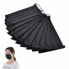 10 Pcs Disposable Mask Anti Debu Flu Hangat Face Sports Respirator Outdoor Mulut-Intl By Family Flower.