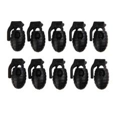 10 pcs Granat Sepatu Tali Sepatu Buckle Stopper Tali Clamp Paracord Cord   Kunci-Intl