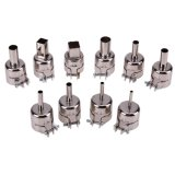 Beli 10Pcs Heat Nozzles Solder Kit Set For 850 Hot Air Soldering Station Intl Terbaru