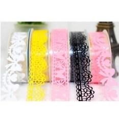 Harga 10 Pcs Renda Dekoratif Diri Perekat Masking Washi Tape Lengket Kertas Stiker Diy Intl Fullset Murah