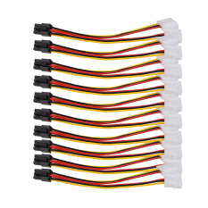 Review 10 Pcs Molex 4 Pin Untuk Pci E 6 Pin Konektor Adaptor Power Converter Intl