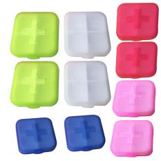 Spek 10 Buah Kotak Penyimpanan Obat Pil Penyelenggara Case Warna Acak Tiongkok